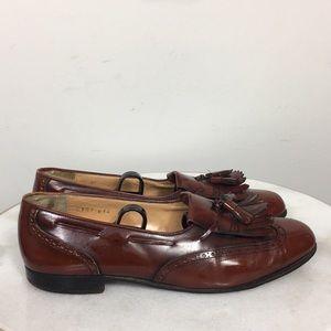 Salvatore Ferragamo Men's Brown Leather Tassel 8